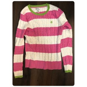 Lilly pulizter striped sweater, small